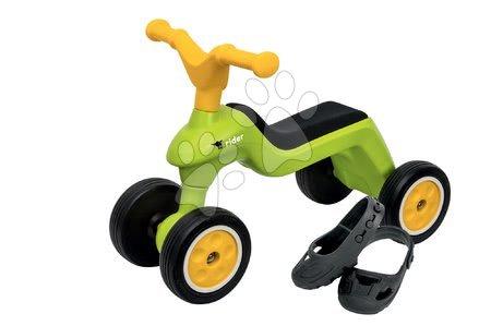 Guralice za djecu od 18 mjeseci - Guralica okretna Rider BIG zelena, s gumenim kotačima i navlakama za cipele od 18 mjeseci