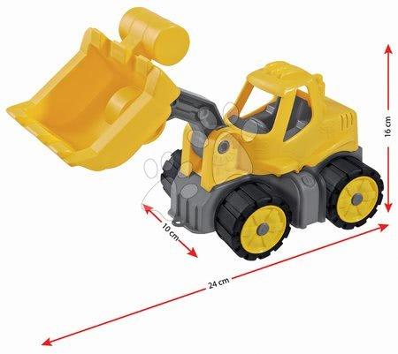 Stavební stroje - Nakladač Power BIG pracovní stroj délka 23 cm žlutý od 24 měsíců