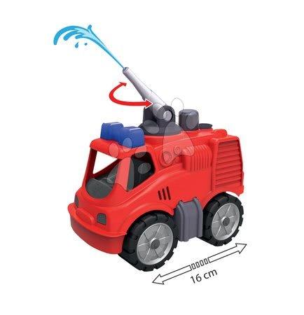 Kültéri játékok - Tűzoltókocsi Power BIG vízágyúval piros 24 hó-tól
