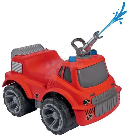 Hasičské auto se sedadlem Maxi Firetruck Power Worker BIG s vodním dělem – gumová kola od 2 let