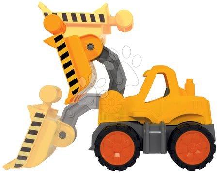 Autíčka a trenažéry - Nakladač Wheel Loader Power Worker BIG pracovní stroj 47 cm – gumová kola od 2 let_1