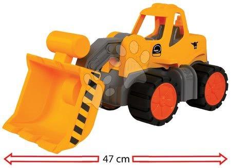 Autíčka a trenažéry - Nakladač Wheel Loader Power Worker BIG pracovní stroj 47 cm – gumová kola od 2 let