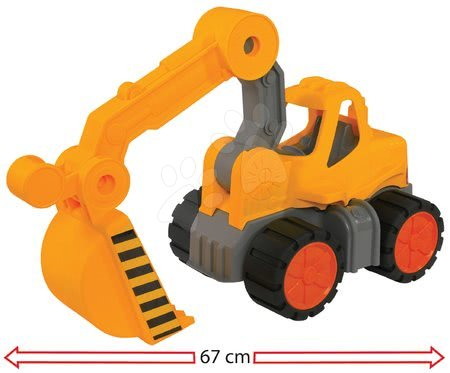Bagr Digger Power Worker BIG pracovní stroj 67 cm – gumová kola od 2 let