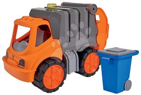 Autíčka a trenažéry - Popelářské auto Power Worker BIG s popelnicí a pohyblivými částmi – gumová kola od 2 let