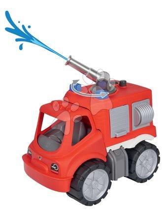 Autíčka a trenažéry - Hasičské auto s vodním dělem Power Worker Fire Fighter Car BIG červené od 2 let