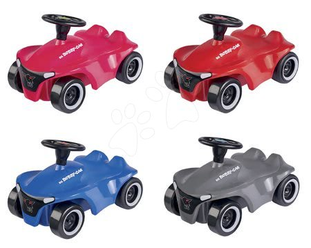 Autíčko na pull back pohon Mini Bobby Car Neo BIG v červenej, modrej, sivej alebo ružovej od 12 mes