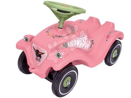 Odrážedlo auto Flower BIG Bobby Car Classic s klaksonem růžové od 12 měsíců