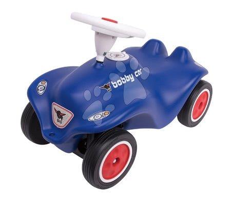 Odrážedlo autíčko Royal blue BIG New Bobby Car s klaksonem modré, gumová kola od 12 měsíců
