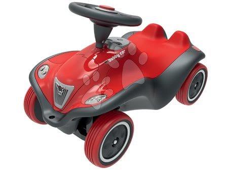 Bébitaxi autó Next Bobby Car BIG hanggal és fénnyel piros-szürke 12 hó-tól