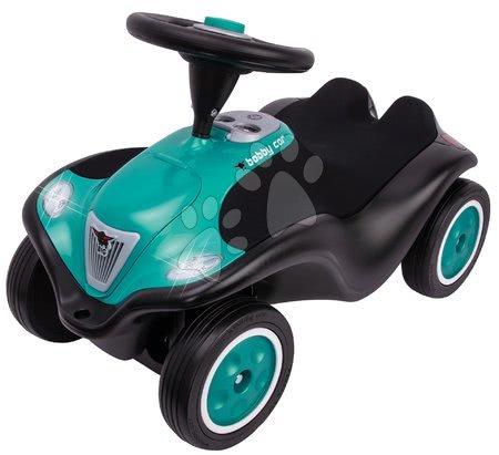 Odrážedlo Bobby Car Next Turquoise BIG s LED reflektory a elektronickým klaksonem ergonomické sedadlo s velurem od 12 měsíců