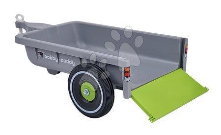 Príslušenstvo k odrážadlám - Prívesný vozík hranatý BIG šedý k odrážadlám New&Classic&Neo&Next&Scooter od 12 mes