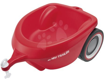 Přívěsný vozík oválný Neo Trailer BIG červený k odrážedlům BIG New&Classic&Neo&Next&Scooter od 12 měsíců