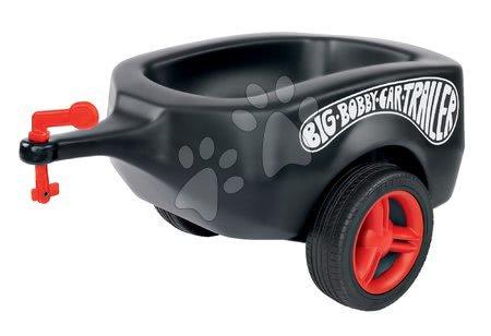 Príslušenstvo k odrážadlám - Prívesný vozík BIG čierny k odrážadlám New&Classic&Neo&Next&Scooter od 12 mes