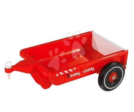 Príslušenstvo k odrážadlám - Prívesný vozík BIG hranatý červený k odrážadlám BIG New&Classic&Neo&Next&Scooter od 12 mes