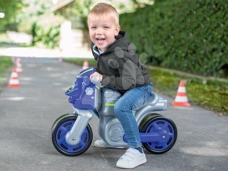 Guralice za djecu od 18 mjeseci - Guralica motocikl Policija Bike BIG srebrna od 18 mjeseci_1
