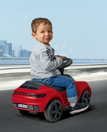 Otroški poganjalci - Poganjalec avto Baby Porsche 911 BIG z zvokom in pristnimi detajli z delavnice Porsche rdeč od 18 mes_1