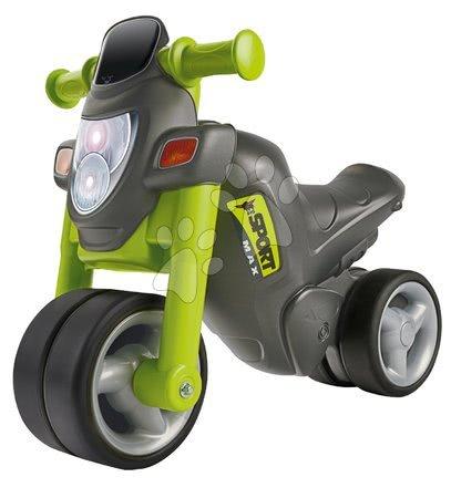 Odrážadlá - Odrážadlo motorka Sport Bike Green BIG so zvukom a široké dvojité gumené kolesá zelené od 18 mes