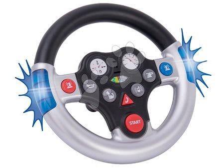 Príslušenstvo k odrážadlám - Interaktívny volant Zachranár k BIG New&Classic&Next&Neo odrážadlám a traktorom so zvukom a svetlom od 12 mes