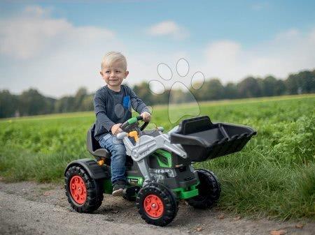 BIG - Pedálos traktor homlokrakodóval Jim Turbo BIG interaktív kormánnyal láncmeghajtással_1