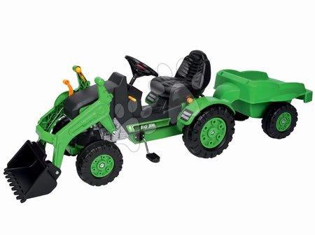 BIG - Szett pedálos traktor Jim Loader BIG homlokrakodóval, utánfutóval és traktor Power BIG homlokrakodóval ajándékba_1