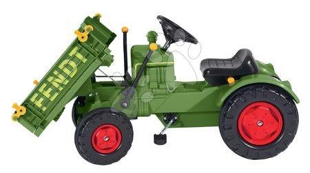 BIG - Pedálos traktor Fendt BIG láncmeghajtással, platóval és dudával_1