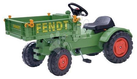 BIG - Pedálos traktor Fendt BIG láncmeghajtással, platóval és dudával