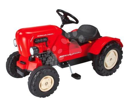 Vehicule cu pedală pentru copii - Tractor cu pedale Porsche Diesel Junior BIG roşu