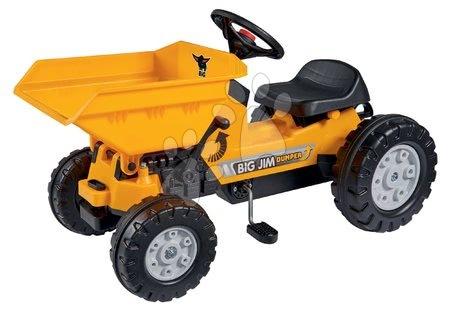 BIG - Traktor billenőplatóval Jim Dumper BIG mozgó részekkel és láncmeghajtással