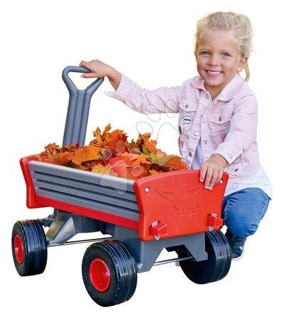 Vozík na ťahanie Peppy Handwagen BIG s otočnými kolesami a odnímateľnými riadidlami
