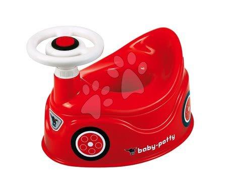 Nočník autíčko BIG s volantem a klaksonem červený od 18 měsíců