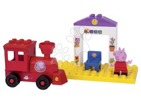 Építőjátékok - Építőjáték Peppa Pig a peronon PlayBIG Bloxx BIG 1 figurával 15 részes