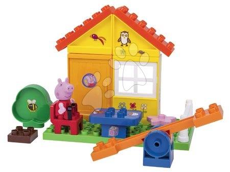 Peppa Pig - Építőjáték Peppa Pig a kertben PlayBIG Bloxx BIG 1 figurával 29 részes