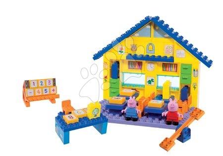 Peppa Pig - Építőjáték Peppa Pig iskolában szorzótáblával PlayBIG Bloxx BIG 2 figurával 87 darabos