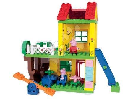 Peppa Pig - Építőjáték Peppa Pig a játszótéren PlayBIG Bloxx BIG 2 figurával 75 részes