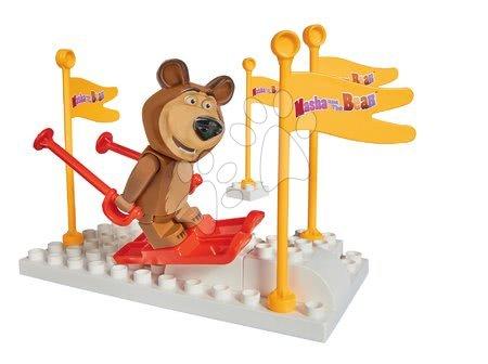 Mása és a medve - Építőjáték Mása és a medve A síelés PlayBIG Bloxx BIG 9-14 darab 18 hó-tól