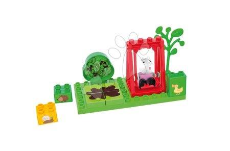 Építőjátékok - Építőjáték Peppa Pig a hintán PlayBIG Bloxx BIG 13 részes 1 figurával