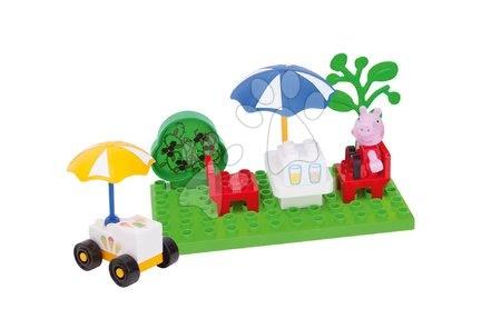 Építőjátékok - Építőjáték Peppa Pig fagyizóban PlayBIG Bloxx BIG 20 részes 1 figurával