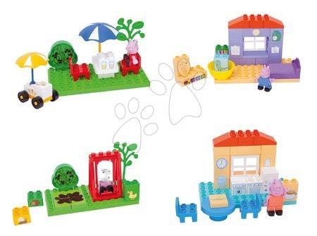 Peppa Pig - Szett építőjáték Peppa Pig PlayBIG BLOXX 4 fajta figurákkal 1,5-5 éves korosztálynak