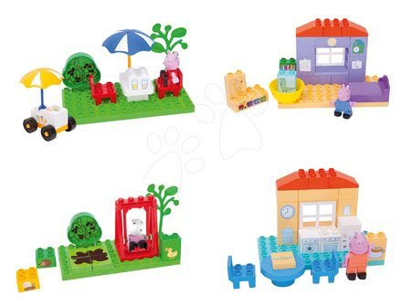 Set kock Peppa Pig PlayBIG BLOXX 4 vrste s figuricami (kompatibilno z Lego Duplo)