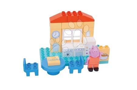 Peppa Pig - Építőjáték Peppa Pig konyhában PlayBIG Bloxx BIG 26 részes 1 figurával