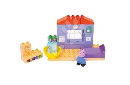 Peppa Pig - Építőjáték Peppa Pig hálószobában PlayBIG Bloxx BIG 16 részes 1 figurával