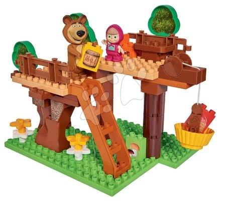 Stavebnice Máša a medvěd Bydlení na stromě Bloxx BIG PlayBIG s 2 figurkami a 60 dílů