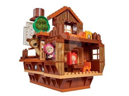 Stavebnica Masha a medveď PlayBIG BLOXX Medvedia loď 159 dielov 2 figúrky od 1,5-5 rokov 47*26*46 cm B57107
