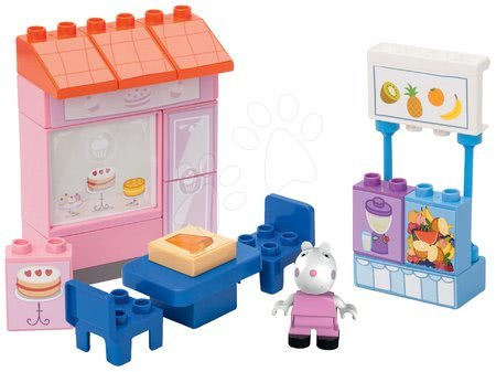 Peppa Pig - Építőjáték Peppa Pig cukrászdában PlayBIG Bloxx BIG 22 elemmel és 1 figurával