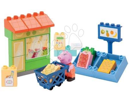 Stavebnica Peppa Pig v obchode s ovocím PlayBIG v 25 dielov a 1 figúrka od 1,5-5 rokov