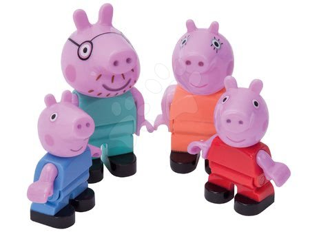 Építőjátékok - Játék figura Peppa Pig család PlayBIG Bloxx BIG 4 figurával