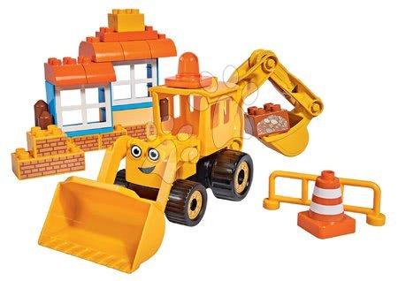 Stavebnica Staviteľ Bob PlayBIG Bloxx BIG stavebný stroj s nakladačom a bagrom BIG 40 dielov od 24 mes