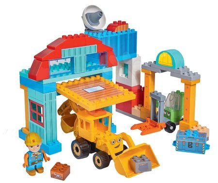 Stavebnice Bořek Stavitel PlayBIG Bloxx Bob na staveništi,1 figurka a 96 dílů od 24 měsíců