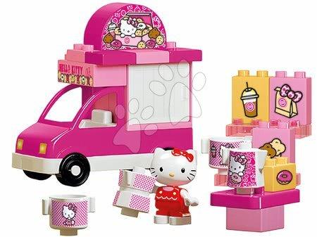 Építőjátékok - Építőjáték PlayBIG Bloxx Eiswagen BIG Hello Kitty fagyiskocsi édességgel 26 darabos 18 hó-tól