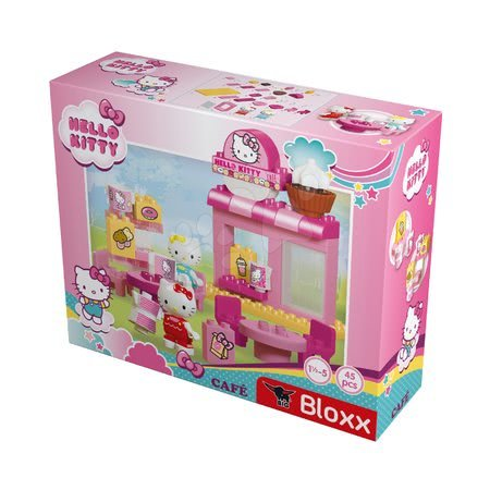 Stavebnice a kocky - Stavebnica PlayBIG Bloxx Cafe BIG Hello Kitty v kaviarni s kamarátkou 2 figúrky 45 dielov od 18 mes_1